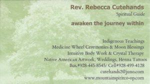 Rebeca Cutehands Business Card
